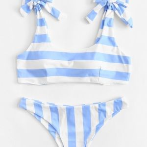 Other - Striped Bikini with Knot Strap